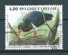 2005 Belgium 4,00 EURO Buzin Birds,oiseaux,vögel,zwarte Ooievaar Used/gebruikt/oblitere - Belgium