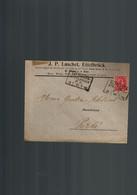 Luxembourg Lettre De 1906 Avec Cachet Ambulant  BETTINGEN-ETTELBRUCK - 1895 Adolphe Right-hand Side