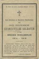 Doodsprentje: GESNEUVELDE SOLDATEN VAN IZEGEM 1914-1918 - Religion & Esotericism
