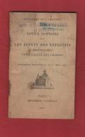 Livret Notice Sommaire Sur Les Effets Des Explosifs 1901 Génie - Libros, Revistas & Catálogos