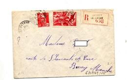 Lettre Recommandée Juvigny Sur Avion - Manual Postmarks