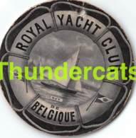 OUD LABEL LIDKAART ETIQUETTE  CARTE DE MEMBRE ROYAL YACHT CLUB OOSTENDE OSTENDE 1909   7 CM - Tickets D'entrée