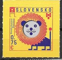 SLOVAKIA, 2019, MNH,BIENNAL OF ILLUSTRATIONS, BRATISLAVA, LIONS, 1v - Art