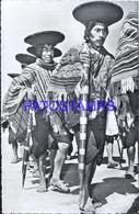 124731 PERU PISAC COSTUMES NATIVE INDIOS LOS ALCALDES DE LA REGION  64201 POSTAL POSTCARD - Peru