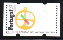 Portugal 1997 ATM-FRAMA - Portugal98 - 45 $ - ATM/Frama Labels