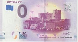 Billet Touristique 0 Euro Souvenir France 13 Chateau D'If 2019-1 N°UEGG009088 - Private Proofs / Unofficial
