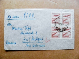 Cover Argentina Bueinos Aires Sent To Germany  Avion Airplane Waterfall ? - Cartas