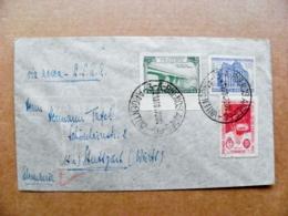 Cover Argentina Bueinos Aires Sent To Germany Bridge Point Brucke Antarctica 1947 - Cartas