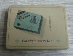 AC - DAVROS D. MISSIRIAN BRUXELLES CARTE ROYALE CIGARETTE - TOBACCO EMPTY VINTAGE TIN BOX - Contenitori Di Tabacco (vuoti)