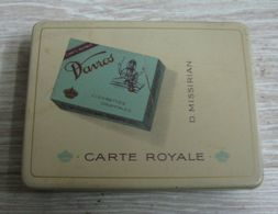 AC - DAVROS D. MISSIRIAN BRUXELLES CARTE ROYALE CIGARETTE - TOBACCO EMPTY VINTAGE TIN BOX - Boites à Tabac Vides