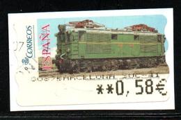 Espagne -  EMA (Empreintes Machines)  2005 - Locomotive -0,58 € - Marcofilie - EMA (Print Machine)