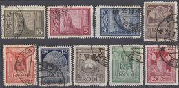 RODI - 1932/1933 - Serie Completa Di 9 Valori Usati: Yvert 49/57. - Egeo (Rodi)