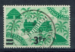 French Somali Coast, 3fr/25c., London Set Overprint, 1945, VFU - Costa Francese Dei Somali (1894-1967)