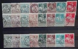 BELGIE   1911  Caritas  Nr. 84 - 91  /  92 - 99 En 100 - 107   Gestempeld     CW 363,00 - 1910-1911 Caritas