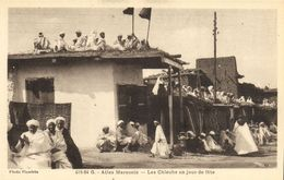 CPA MAROC ATLAS Marocain - Les Chleuhs Un Jour De Fete (92990) - Autres