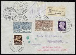1933 - 1 Lira, 1,20 Lire, 50 Cent. Imperiale Posta Aerea, 7 1/2 Cent. Imperiale (4,5,11,244), Perfet... - Italien