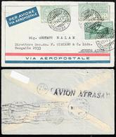1931 - 5 Lire, Due Esemplari, 25 Cent. Virgilio (7,284), Perfetti, Su Aerogramma Da Torino 8/7/1931 ... - Italien