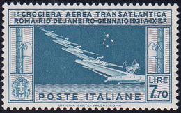 1930 - 7,70 Lire Crociera Balbo (25), Ottima Centratura, Gomma Integra, Perfetto. Bello! G.Bolaffi, ... - Italien