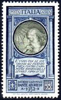 1932 - 100 Lire Dante (41), Ottima Centratura, Gomma Integra, Perfetto. Bello.... - Italien
