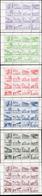 1933 - Crociera Zeppelin, Sedici Vignette Erinnofile In Sei Minifogli Nei Colori: Violetto, Verde Sc... - Italien