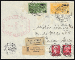 1934 - 2 Lire, 3 Lire Roma - Buenos Aires, 75 Cent. E 2 Lire Imperiale (56/57,252,255), Perfetti, Su... - Italien