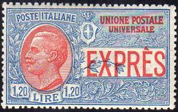 1922 - 1,20 Lire Non Emesso (8), Ottima Centratura, Gomma Integra, Perfetto. Cert. Ferrario.... - Italien