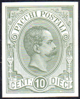 1886 - 10 Cent. Umberto I (1), Prova Su Cartoncino Spesso Gessato, Non Gommata, Perfetta. Bella E Mo... - Italien