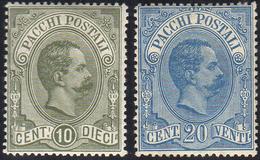 1896 - 10 Cent. E 20 Cent. Umberto I (1/2), Ben Centrati, Gomma Integra, Piccola Mancanza Naturale D... - Italien
