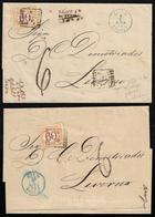 1870 - 60 Cent. Ocra E Carminio (10), Due Esemplari, Perfetti, Su Altrettante Sovracoperte Di Letter... - Italien