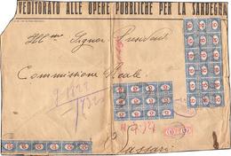 1927 - 2 Lire Azzurro E Carminio, Blocco Di Diciotto, Blocco Di Dodici, Striscia Di Sei, 60 Cent. Ar... - Italien