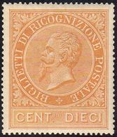 1874 - 10 Cent. (1), Ottima Centratura, Gomma Integra, Perfetto. Ferrario.... - Italien