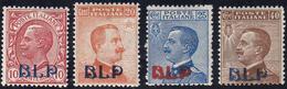 1921 - Soprastampati BLP Del I Tipo (1/4), Nuovi, Gomma Originale Integra, Perfetti E Di Buona/ottim... - Italien