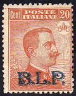 1923 - 20 Cent. Soprastampa BLP Del II Tipo (7), Gomma Integra, Perfetto. A.Diena, Cert. Ferrario.... - Italien
