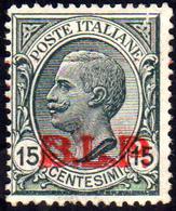 1923 - 15 Cent., Soprastampa BLP Rossa Del III Tipo (14C), Gomma Originale, Perfetto. Fresco. A.Dien... - Italien