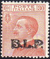 1923 - 30 Cent., Soprastampa BLP Del III Tipo (17), Gomma Integra, Perfetto. Emilio Diena, Cert. Fer... - Italien