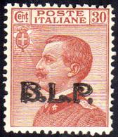 1923 - 30 Cent., Soprastampa BLP Del III Tipo (17), Gomma Originale Integra, Perfetto, Ottima Centra... - Italien
