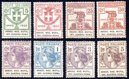 ASSOC. NAZ. MUTIL. INV. GUERRA - ROMA 1924 - Serie Completa (5/12), Nuovi, Gomma Originale Integra, ... - Italien