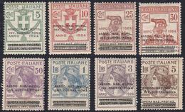 ASSOC. NAZ. MUTIL. INV. GUERRA - ROMA 1924 - Soprastampati, Serie Completa (70/77), Nuovi, Gomma Ori... - Italien