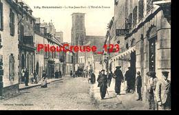 """29 Finistère - DOUARNENEZ - """" La Rue Jean Bart - Hôtel De France - Belle Animation """" - Douarnenez"""