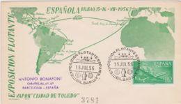 1956 SPAGNA Esposizione Galleggiante/Bilbao (15.7) Annullo Speciale Su Busta - 1951-60 Briefe U. Dokumente