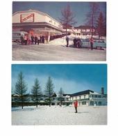 2 ST. JOVITE, Quebec, Canada, Villa Bellevue, Mont Tremblant, Skiing, Old Cars, Old Chrome Postcards - Other