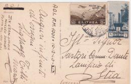 1940 POSTA MILITARE 1001/AOI C2 (10.12) Su Cartolina Via Aerea Affrancata Eritrea - Erythrée