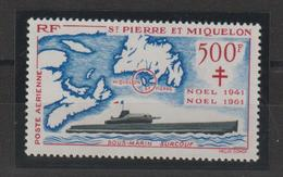 Saint Pierre Et Miquelon 1962 Anniversaire Ralliement PA 28 Neuf ** MNH - Luftpost