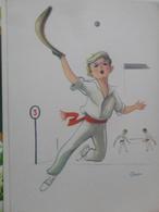 Pelotari Illustrateur Dessin 1962 - Spagna