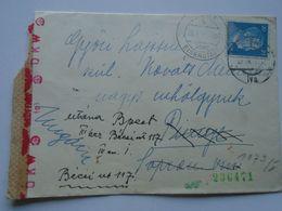 ZA238.5 Austria Cover  -cancel RUST (über Eisenstadt/ Kismarton) + Wien Cancel 1942   To PINNYE  Hungary - OKW Wien Open - Briefe U. Dokumente