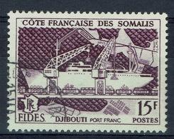 French Somali Coast, Port Of Djibouti, FIDES, 1956, VFU - Used Stamps