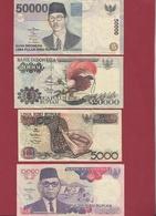 Indonésie 4 Billets Dans L 'état (FORTE COTE EN UNC) - Indonesia