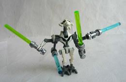 FIGURINE LEGO STAR WARS - GENERAL GRIEVOUS White - MINI FIGURE 2014 Légo - Figurines