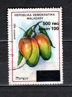MADAGASCAR N° 1681AR   SURCHARGE LOCALE OBLITERE   COTE  ? €   FRUIT MANGUE  VOIR DESCRIPTION - Madagascar (1960-...)