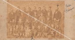 HARELBEKE OUDE ALBUMINE FOTO, CLASSE 1879 MET PETER BENOIT 45 JAAR En DIRECTEUR VLAAMSE MUZIEKSCHOOL Photo F. Maurin - Harelbeke